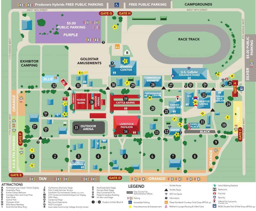 Us Cellular Field Parking Lot Map - Summerfest grounds map