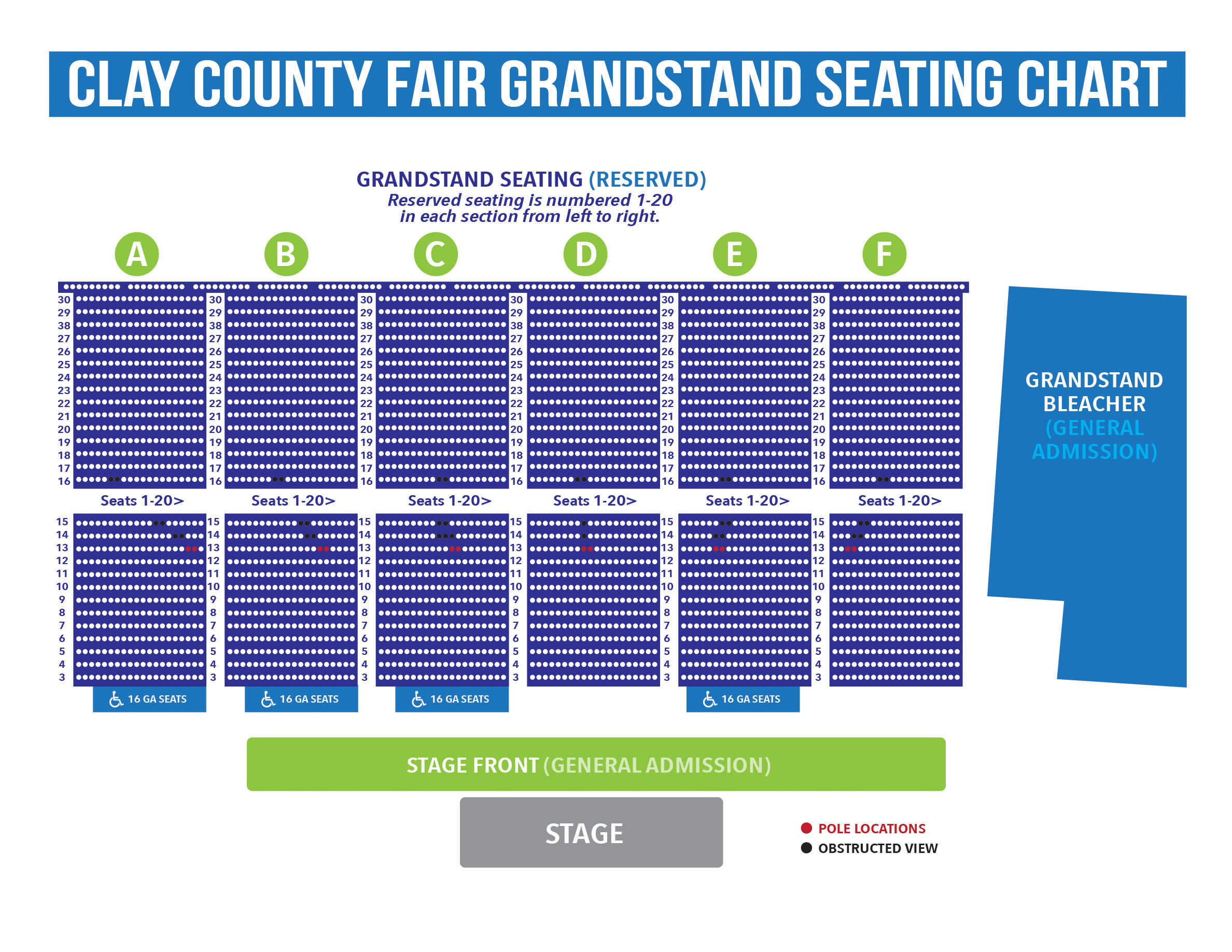 Grandstand Seating Chart Clay County Fair Ticket Ing Pro Tips
